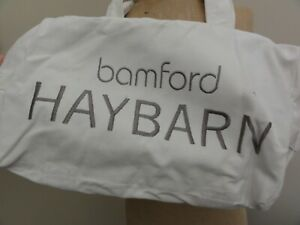 Bamford Haybarn Canvas Yoga/Gym Bag in White