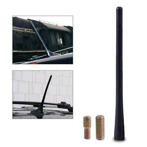 "Universal 8"" Aerial Antenna Black Mast Car Truck AM/FM Radio Rubber w/ Screws"