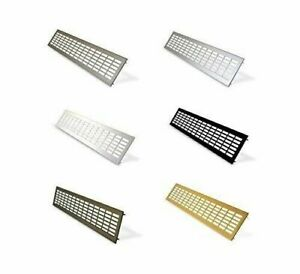 Aluminium Air Vent Grille / Cooker Cabinet Vent / Under Cupboard Heater Grilles