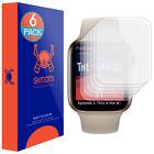 6x Skinomi Anti-Glare Screen Protector for Apple Watch Series 4 44mm Slim Design