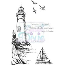 Sweet Dixie Lighthouse Clear Stamps seaside boat birds cardmaking scrapbooking