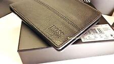 """NUOVO Designer HUGO BOSS WALLET """"PALLINO' 10 slot di carta di credito, Slim Fold nero"""