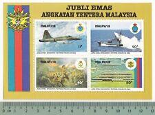 1983 Jubli Emas Angkatan Tentera Malaysia Armed Forces MS Mini Sheet MNH Mint