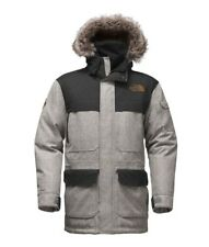 The North Face Men's MCMURDO PARKA III 550 Down Jacket Grey Herringbone Tweed M