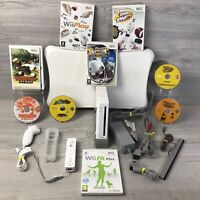 Nintendo Wii huge Bundle With X6 Games Wii Fit Plus Board Wii Play Family Bundle