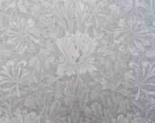 William Morris Curtain Fabric 'PURE HONEYSUCKLE & TULIP' 2 METRES Light Grey