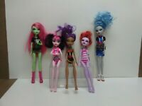 Mattel Monster High Doll Lot - Clawdeen, Ghoulia, Operetta, Venus, Draculaura