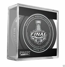 New 2016 NHL Stanley Cup Penguins vs. Sharks Sherwood Official Game Puck #1 One