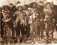 Mexican Revolution Pancho Villa and His Generals Vintage Photo 16x20