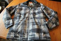 MEN'S COLUMBIA WHIRLIBIRD WINTER COAT JACKET CAMO SIZE MED Omni-Heat black gray