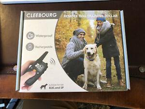 CLEEBOURG Dog Shock Collar, Remote Dog Training Collar with Remote