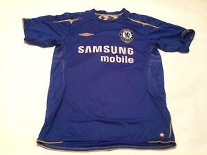 Adult Genuin Chelsea  Home Short Sleeved Football Shirt Jersey Medium  Vgc