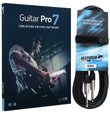 Guitar Pro 7 Notations-Software + KEEPDRUM Gitarrenkabel 6m