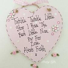 Twinkle Twinkle Little Star Best Nan Childminder Teacher Mum Heart Gift Plaque