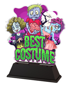 HALLOWEEN BEST COSTUME TROPHY GIFT AWARD ACRYLIC TROPHY *FREE ENGRAVING* 160mm