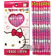 Sanrio Hello Kitty 8pcs School Pencil Gift Stationery Set : Pink