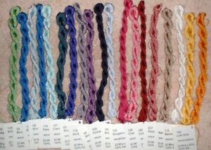 Dinky Dyes Hand Dyed Silk Perle Thread Floss Lot Cross Stitch Embroidery JG