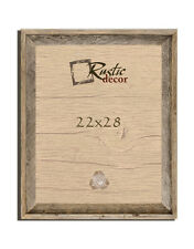 """22x28 - 2"""" Wide Signature Reclaimed Rustic Barn Wood Wall Frame"""