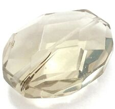 40x30mm Light Champagne glass Quartz Faceted Polygon Rectangle Pendant Bead