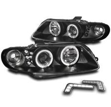 2004 2005 2006 PONTIAC GTO DUAL HALO PROJECTOR HEAD LIGHT BLACK W/DRL BUMPER LED