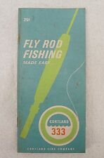 CORTLAND LINE COMPANY FLY ROD FISHING BOOKLET