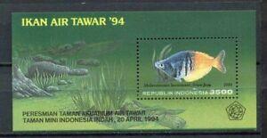 38378) Indonesia 1994 MNH Fish S/S