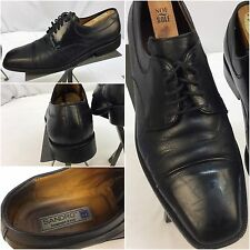 Sandro Dress Shoes Sz 8.5 Men Black Oxford Cap Toe Made In Brazil YGI M6-29