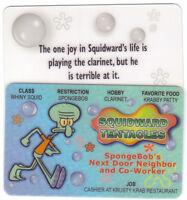 Squidward Tentacles of Spongebob Squarepants plastic ID card Drivers License -