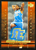 2004-05 CARMELO ANTHONY UPPER DECK EVENT-WORN JERSEY ROOKIE EXCLUSIVES #J3 - CA1