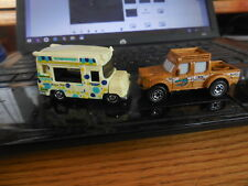 LOT OF 2 MATCHBOX DIE CAST POLKA DOT ICE CREAM VAN + CROC ADVENTURE SUV TRUCK