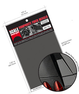 DECAL CARBONE 1/20 TWILL WEAVE BLACK ON PEWTER - SCALE MOTOR SPORT  - SMS1020