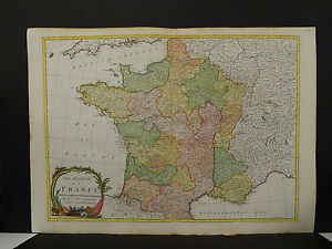 Antique French Map, John Blair, c. 1766, Hand Color, France