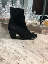 Blondo Waterproof Black Suede Heeled Bootie 7.5
