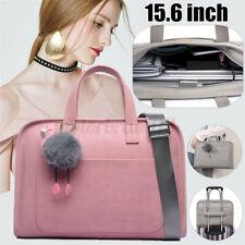 15.6'' Women Briefcase Shoulder Bag Leather Messenger Shopper Laptop Handbag #