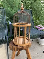 Antique Victorian Bird Cage W Hook Hand Made With Spring Loaded Door Beautiful