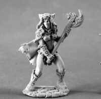1 x KYRIE female BARBARIAN - DARK HEAVEN LEGENDS REAPER miniature rpg jdr 4008