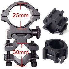 Barrel Clamp Mount + 1inch Scope Ring Picatinny Weaver 20mm Universal Adjustable