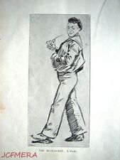 Antique Phil May Cartoon Print c1904 - 'The Bluejacket; a Study'.