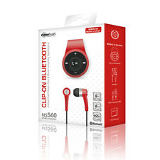 NEW NOISEHUSH NS560 RED CLIP-ON BLUETOOTH WIRELESS HEADSET-In-Ear Only, NOHNS560