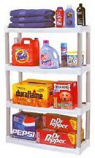 Plano 907003 4 Shelf Light Taupe & Tan Plastic Utility Shelving Unit 48x32x12