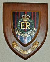Royal Military Police regimental mess wall plaque shield RMP