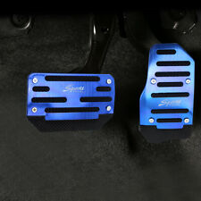 Universal Blue Non-Slip Automatic Gas Brake Foot Pedal Pad Cover Accessories Kit (Fits: Volvo)