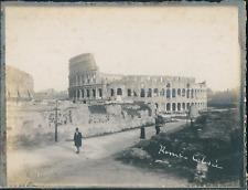 Italie, Rome, Vue du Colisée, ca.1910, vintage silver print Vintage silver print