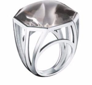 BACCARAT 55 SIZE 7 L'Illustre Ring LARGE MIST Crystal Bague Grand Model MIB