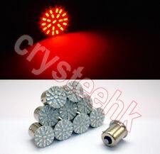 10x 1156 BA15S P21W 3014 22-SMD LED Tail Signal Light Car Light Lamp Red Bulb
