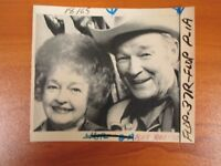 Vtg Wire AP Press Photo Singer Roy Rogers & Wife Dale Evans, King The Cowboys #1