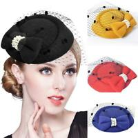 Fascinators Women Headbands Tea Party Flower Derby Hats Elegant Vintage Top Hat
