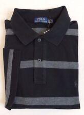 244f321c Men Polo Ralph Lauren Striped Short Sleeves Pony Classic Mesh Shirt 1XB 1X  Big