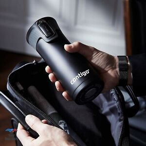 Contigo Travel Mug Autoseal Metal Coffee Thermos Tea Bottle Steel Matte Black