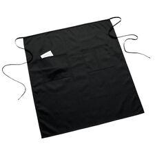 1 New Black Two Pocket Long Bistro Server Apron 285w X 325l Heavy Duty